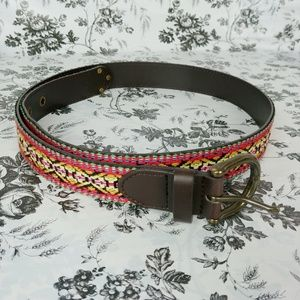 Accessories - Aztec tribal embroidered Boho belt